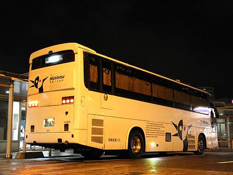 西鉄高速バス「さぬきエクスプレス福岡号」 3802 リア(H24.02.18撮影)