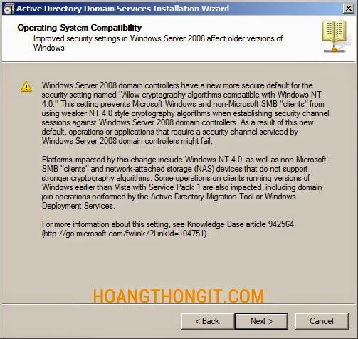 Hướng dẫn cài đặt và cấu hình Child Domain Controller trên windows server 2008