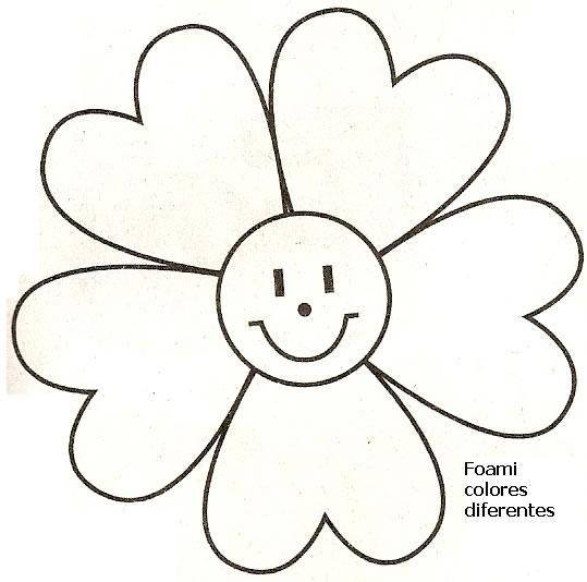 Molde de flor en foami - Imagui