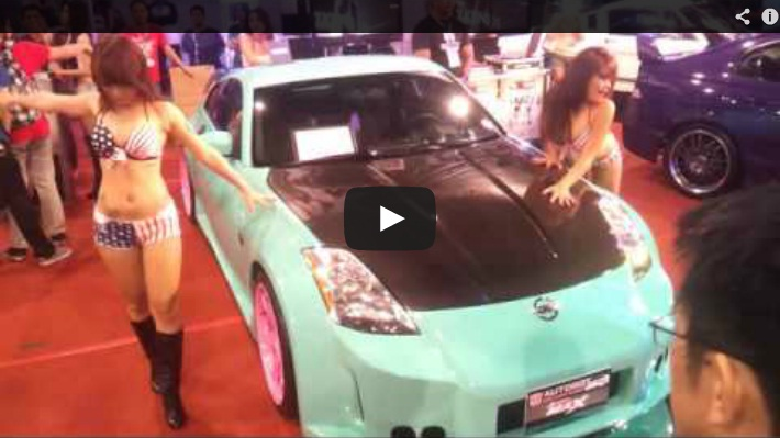 Hot Sexy Car Show Babes Dancing in the Manila Auto Salon Custom Pinoy Rides