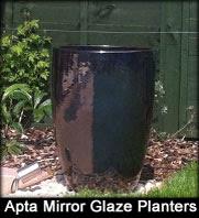 Apta Mirror Glaze Glazed Terracotta Planters