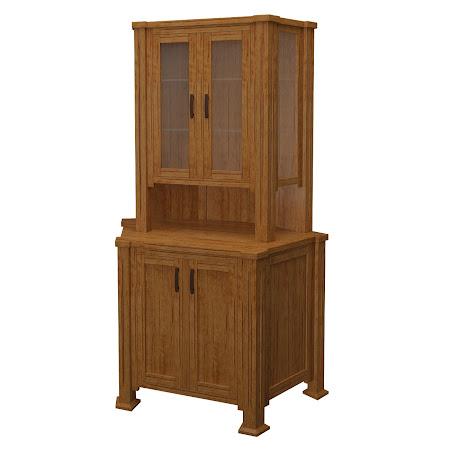 Sacramento Corner Cabinet in Como Maple