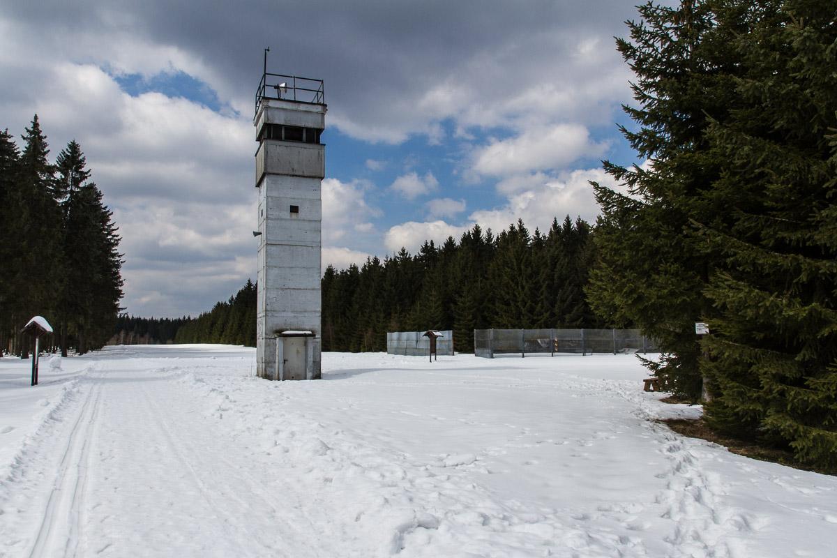 Beobachtungsturm nahe Sorge im Harz