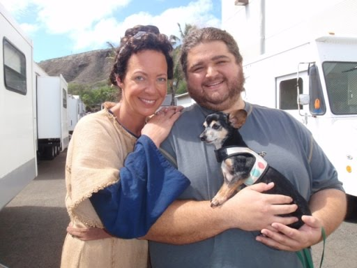 Jorge Garcia, Allison Janney, and Jorge's dog Nunu