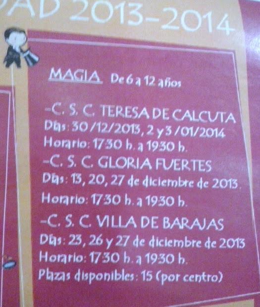 talleres de magia en Barajas