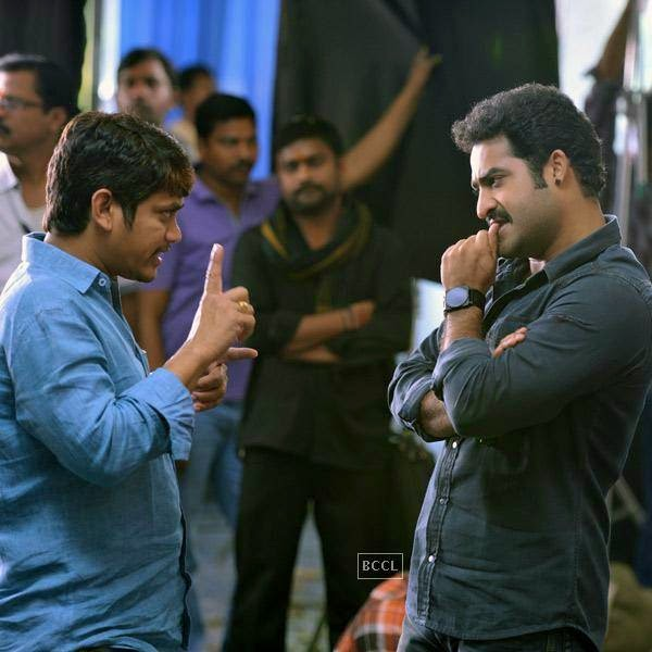 N. T. Rama Rao Jr. on the sets of Telugu movie Rabhasa. (Pic: Viral Bhayani)