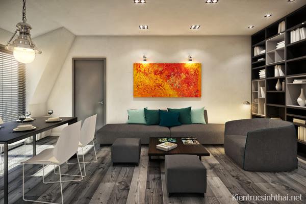 Phòng khách căn hộ hiện đại
