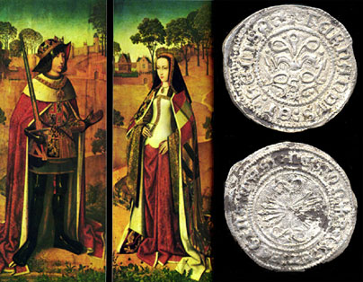 Felipe El Hermoso y Juana La Loca - Cuarto de Real