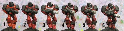 Painting Flesh Tearer Space marines step by step
