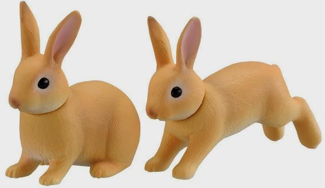 2 mô hình Thỏ Rabbit Ania AS-12 thật độc đáo