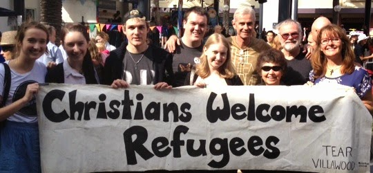 Christians welcome refugees