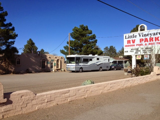 Little Vinyard RV Park- Deming NM, Motorhome, motorhome towing, RV park