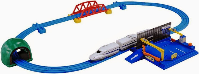 Bộ Tàu hỏa Shinkansen N700 và bãi đỗ xe ô tô Parking Station sinh động