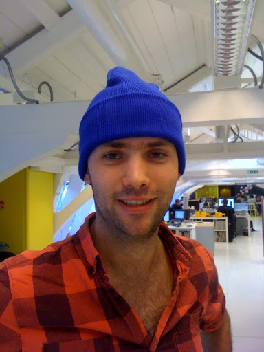 my and my blue beanie