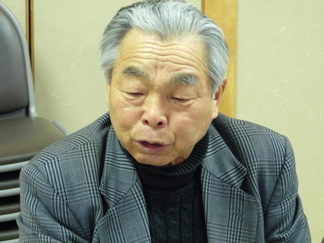 挨拶をする田中副代表