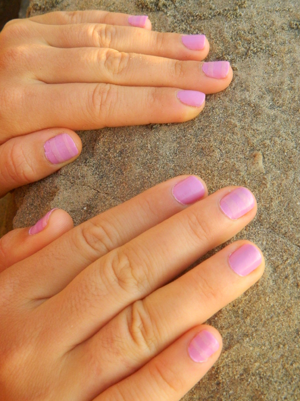 Pastel Striped nails with OPI