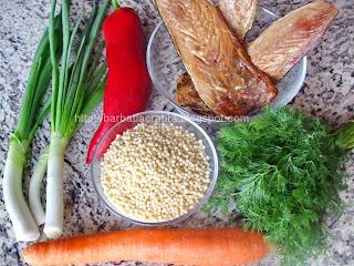 Salata de cuscus cu peste afumat ingrediente reteta
