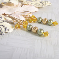 Sunny Crystal Earrings by MagsBeadsCreation