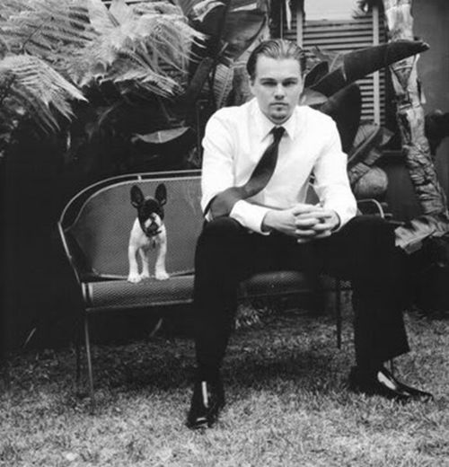 Leonardo DiCaprio and a dog