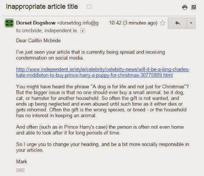 Email to McBride and Independant.Ie
