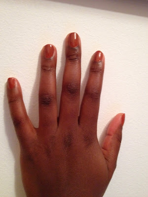 Manicure #6 ~ Chestnut Red