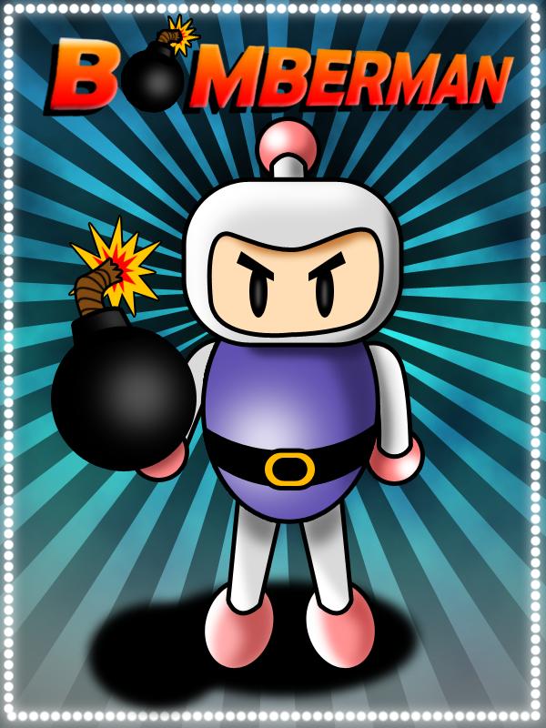 Bomberman finalizado, com cenário inserido