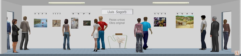 Sala de exposición virtual de pinturas de Lluis Sogorb