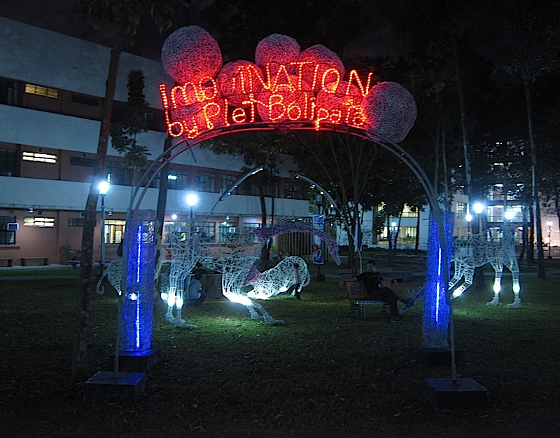 welcome arch to Plet Bolipata's 'imagiNATION' exhibit at the Ateneo de Manila University