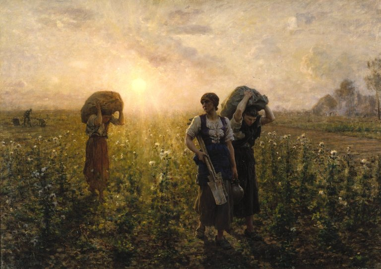 Jules Breton - End of the Working Day