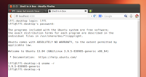 Shell In A Box su Ubuntu Linux