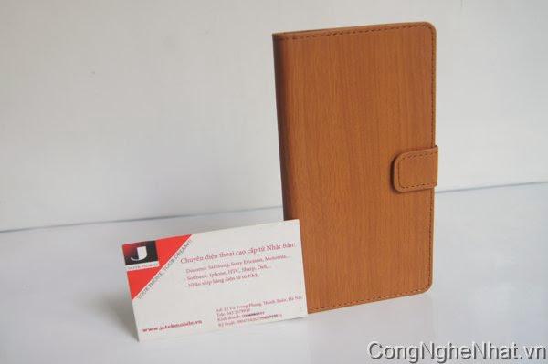 Bao da Sony Xperia Z1(SO-01F)vân gỗ rất đẹp