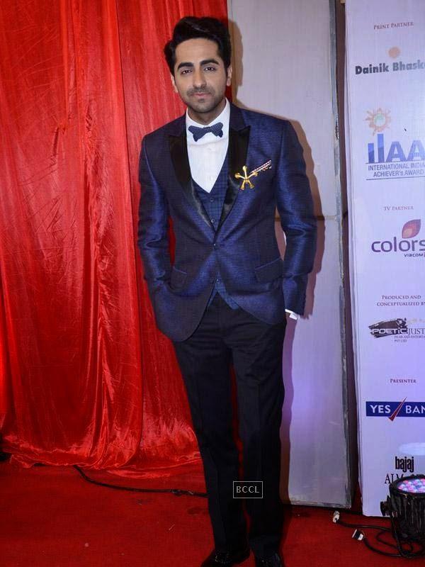 Ayushmann Khurrana at the International Indian Achievers Awards event, held at Filmcity in Mumbai. (Pic: Viral Bhayani)