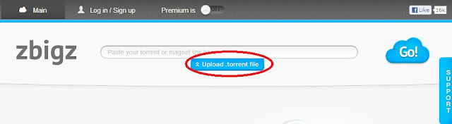 upload file torrent di zbigz