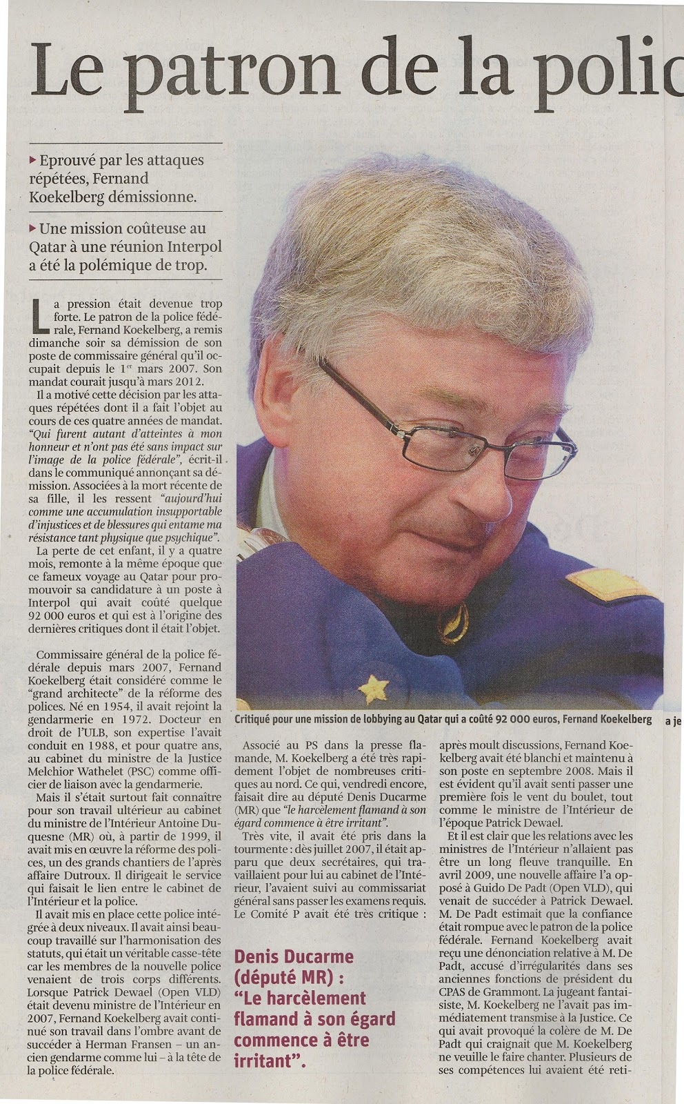 bhv le reflet d'une histoire belge: le patron de la police au tapis