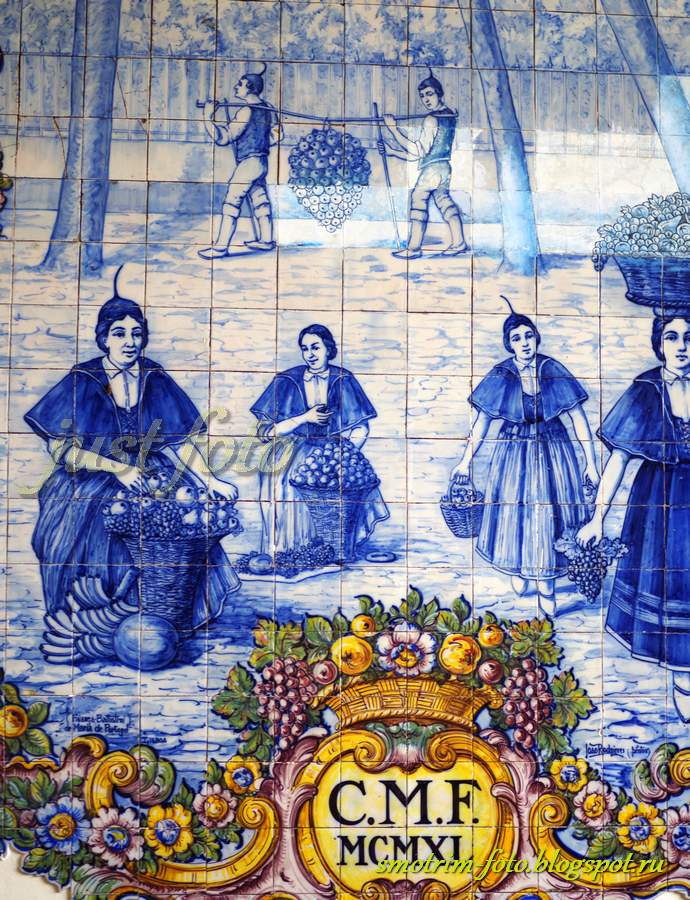 Отдых на Мадейре, рынок Фуншала - азулежуш