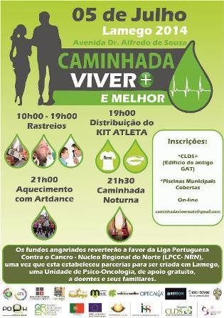Lamego caminha para apoiar a Liga Portuguesa Contra o Cancro