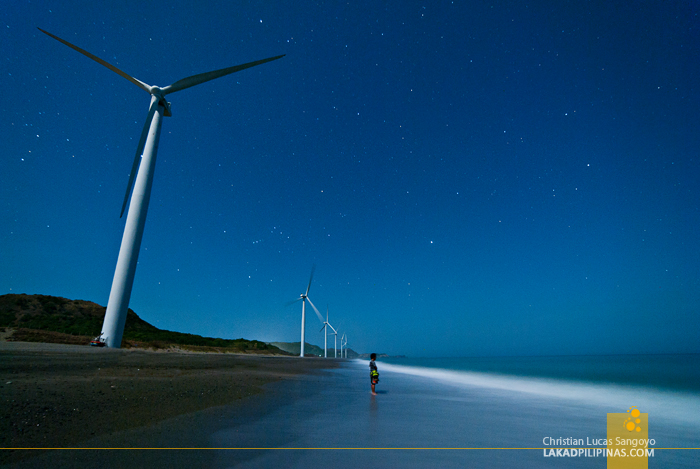 The Bangui Windmills at Night