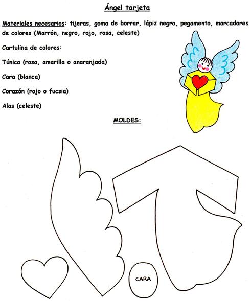 El Rincón de las Melli: TARJETA COLOR: Ángel con corazón