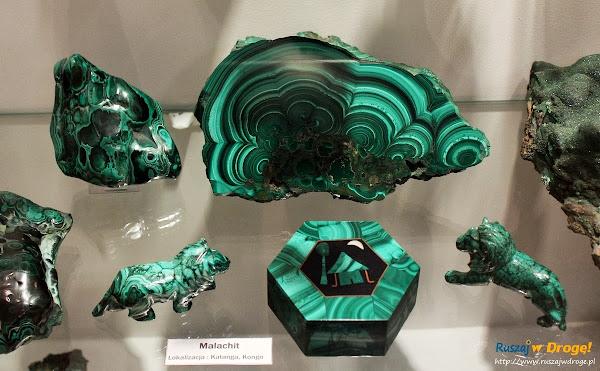 Muzeum Minerałów w Świętej Katarzynie - zwierzątka z malachitu