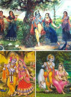 Художественные иллюстрации к любовным играм Крины и Радхи