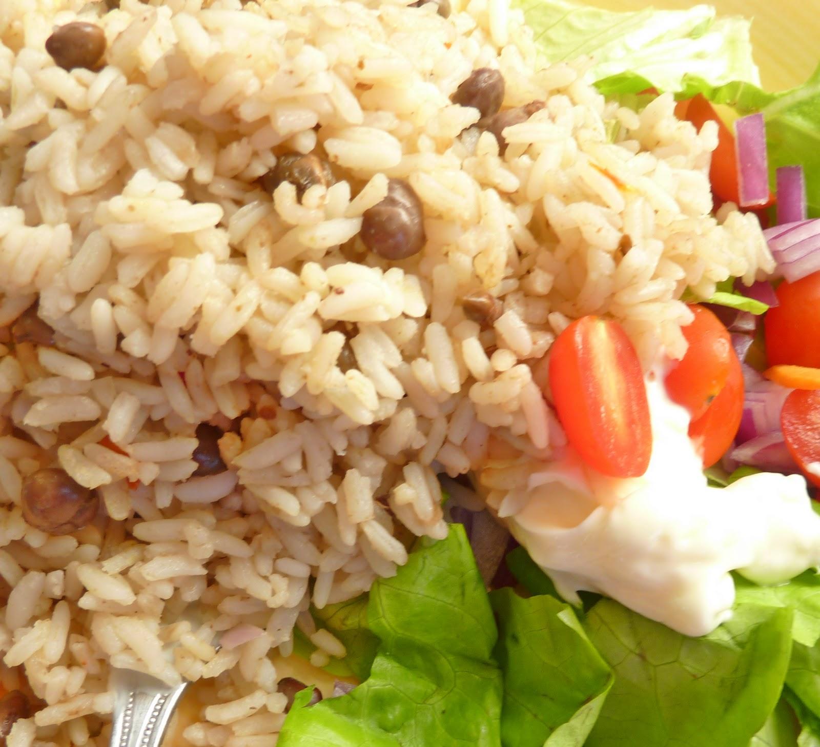 how to make rice n peas