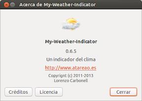 My-Weather-Indicator actualizando la evolución