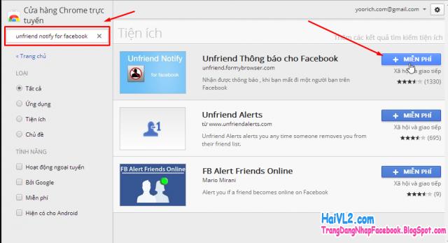 tải Unfriend Notify for Facebook