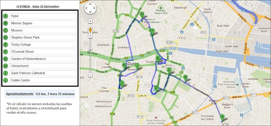Mapa ruta 31 de Diciembre