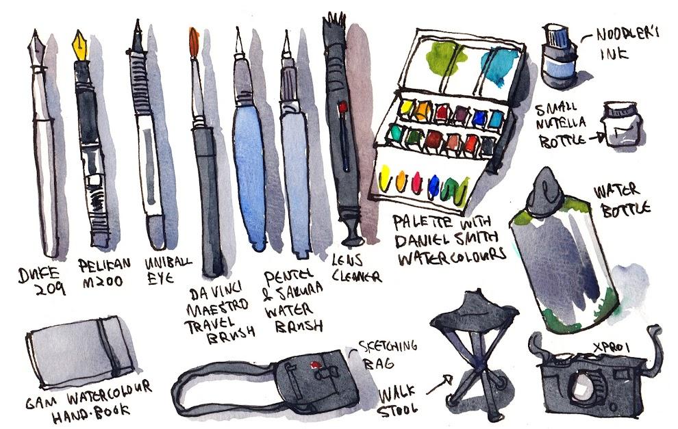Review Watercolor Sketchbook 200gsm From Global Art