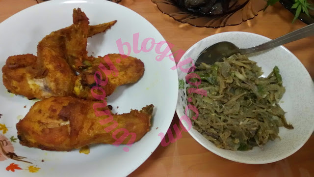 resepi, ayam goreng, ayam goreng kunyit, sambal ikan bilis, sambal belacan