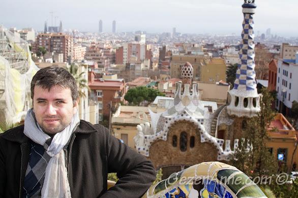 Park Güell'den Barselona manzarası