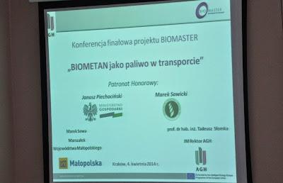 Biomaster. Konferencja finałowa projektu promującego bioCNG na AGH