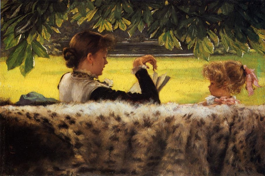 James Tissot - Reading a Story