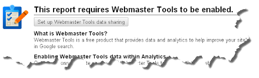 Connect to the Webmaster Tools data